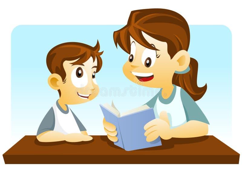 Matriz e filho ilustração do vetor