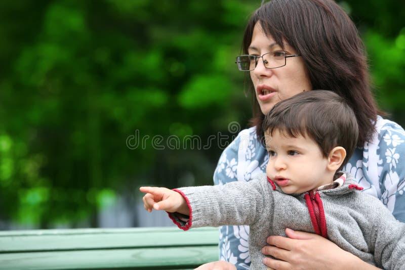 Matriz e filho imagens de stock