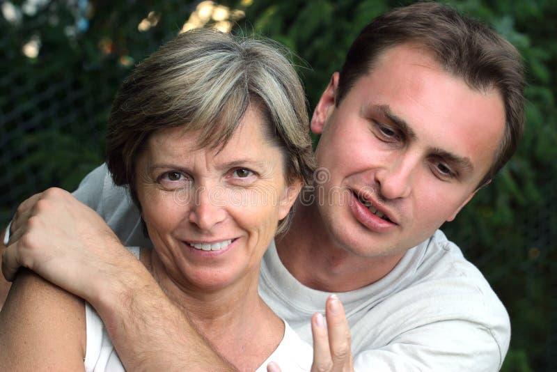 Matriz e filho fotografia de stock royalty free