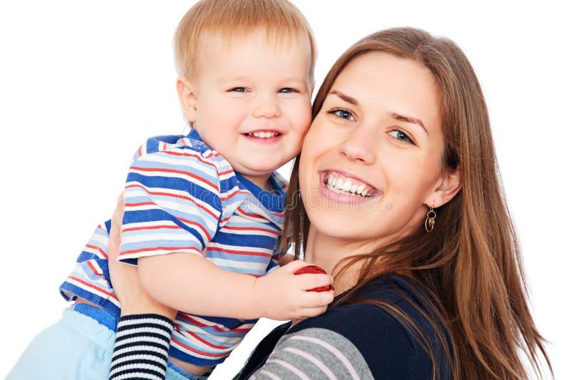 Matriz e filho felizes foto de stock