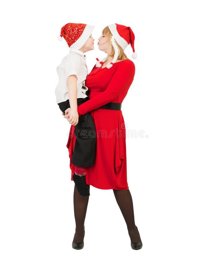 Matriz e filho felizes imagem de stock