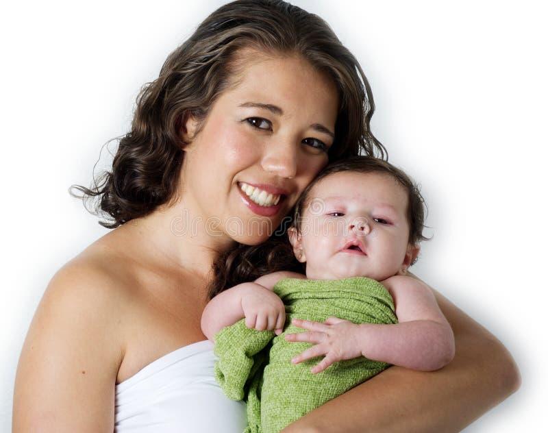 Matriz feliz com bebê do litle imagem de stock royalty free
