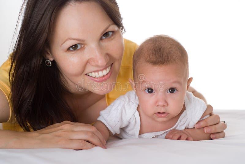 Matriz feliz com sua criança junto foto de stock royalty free