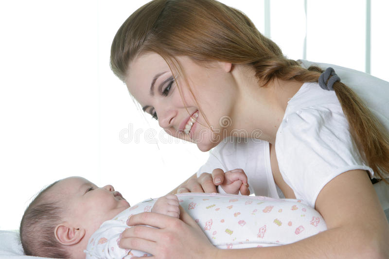 Matriz nova com bebê imagens de stock royalty free