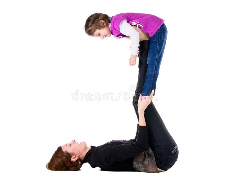 Matriz nova com sua filha fotos de stock royalty free