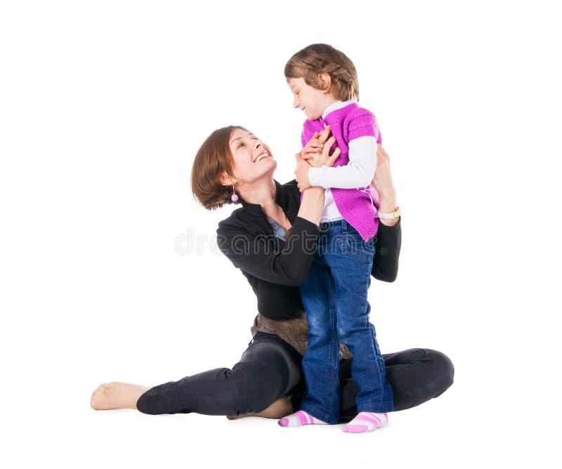 Matriz nova com sua filha imagens de stock