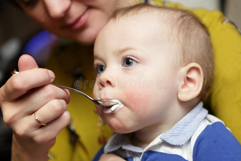 Matriz que alimenta seu bebê foto de stock