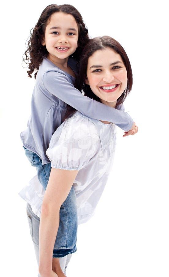 Download Matriz Que Dá Seu Passeio Do Sobreposto Da Filha Imagem de Stock - Imagem de infância, família: 12809351