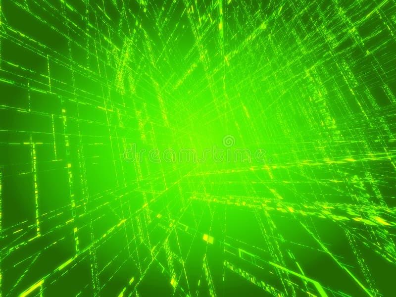 Matriz verde ilustração stock