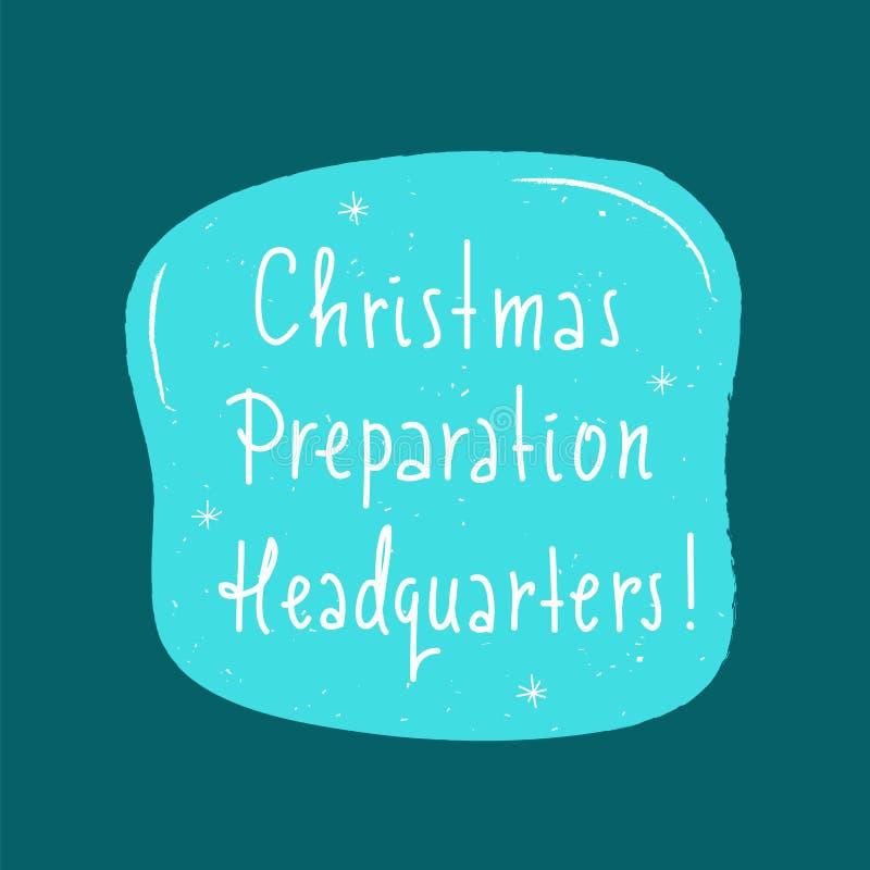 Matrizes da preparação do Natal - simples inspire e citações inspiradores ilustração do vetor