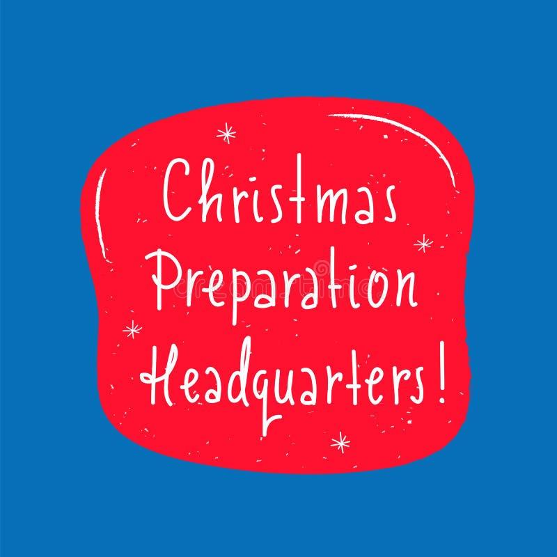 Matrizes da preparação do Natal - simples inspire e citações inspiradores Rotulação bonita tirada mão ilustração do vetor