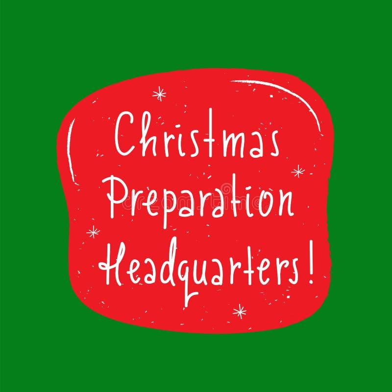 Matrizes da preparação do Natal - simples inspire e citações inspiradores Rotulação bonita tirada mão Cópia para o inspirationa ilustração stock