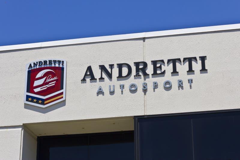 Matrizes de Andretti Autosport Indianapolis imagens de stock