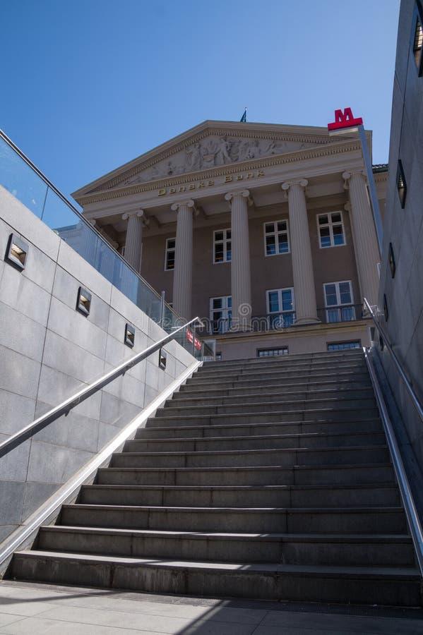 Matrizes de Danske Bank, Copenhaga, Dinamarca imagens de stock royalty free