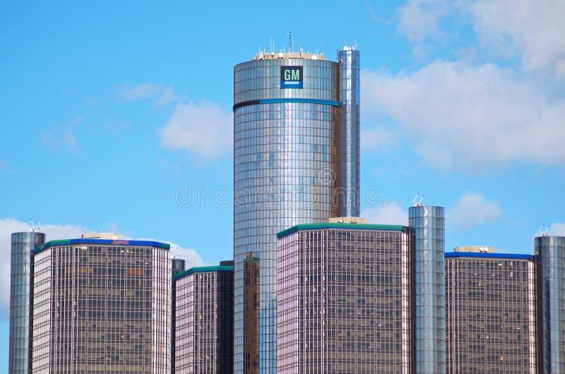 Matrizes de General Motors em Detroit do centro imagens de stock royalty free
