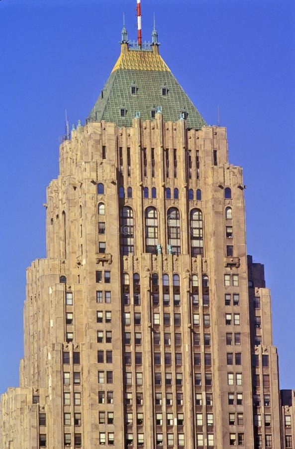 Matrizes de General Motors em Detroit do centro, MI imagem de stock royalty free