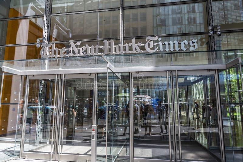 Matrizes de The New York Times em New York City, EUA foto de stock