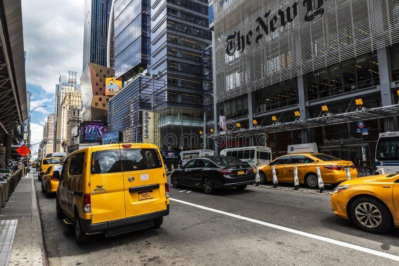 Matrizes de The New York Times em New York City, EUA imagens de stock
