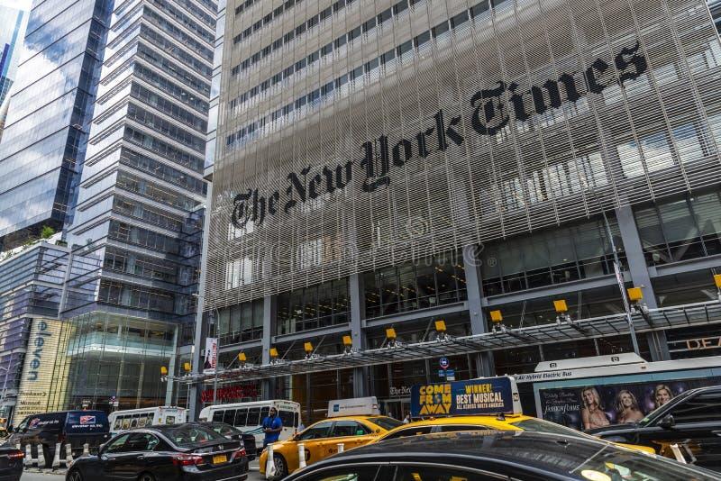 Matrizes de The New York Times em New York City, EUA fotografia de stock