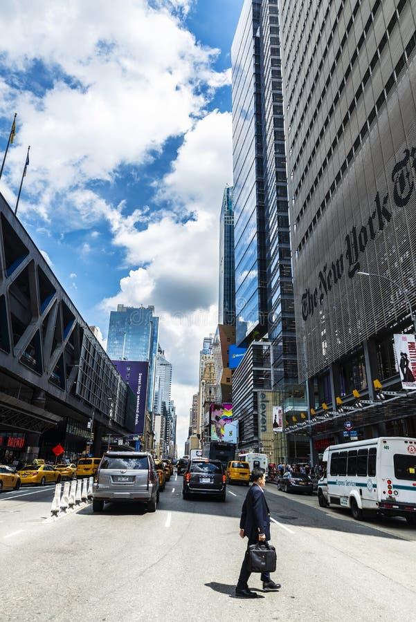 Matrizes de The New York Times em New York City, EUA fotografia de stock royalty free