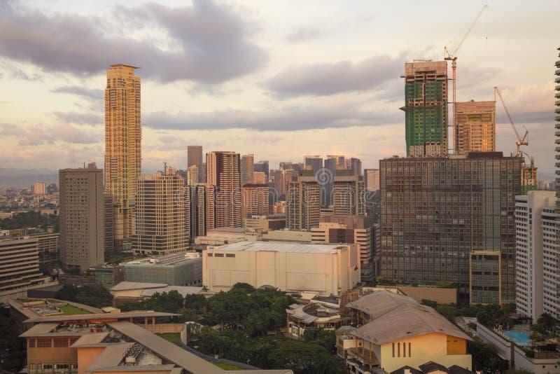 Matro Manila, cidade de Makati fotografia de stock royalty free