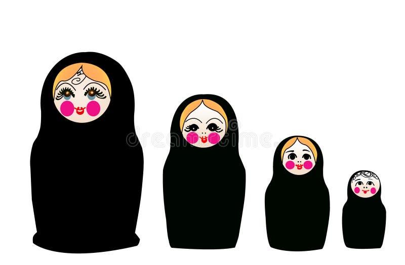 Matrushka converteu ao Islão ilustração royalty free
