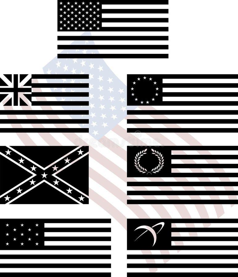 Matrycuje flaga amerykańskie ilustracja wektor