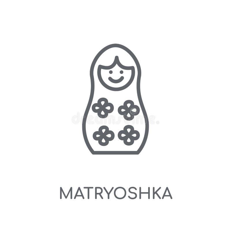 matryoshka线性象 现代概述matryoshka商标概念o 向量例证