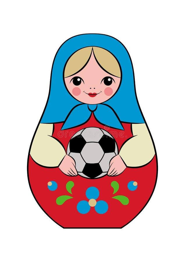 Matryoshka футбола бесплатная иллюстрация