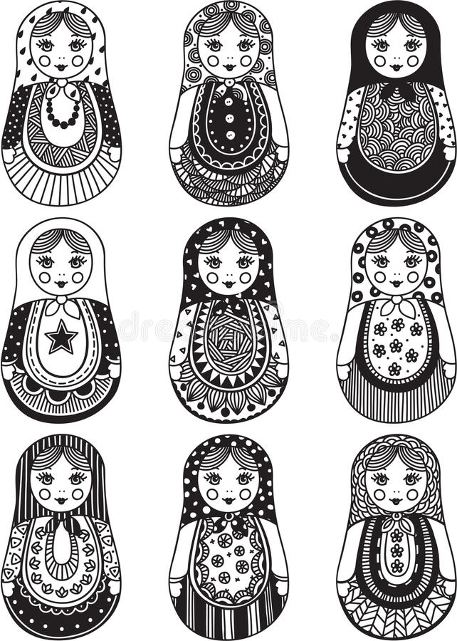 Matryoshka libre illustration