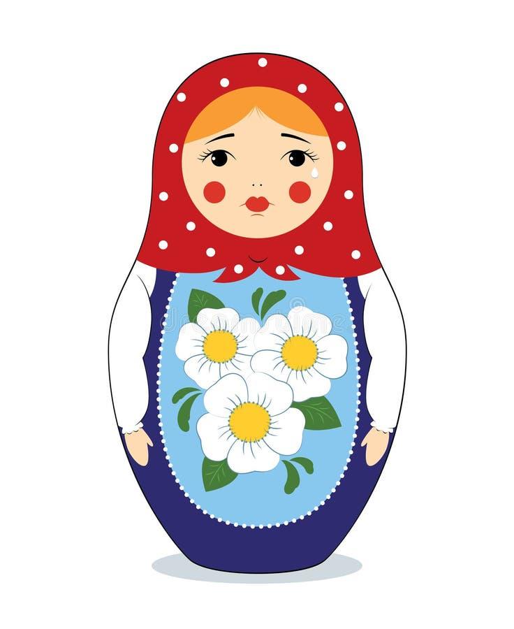 Matryoshka de grito ilustração royalty free