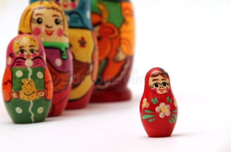 Download Matryoshka Dolls  On White Background Stock Image - Image of background, group: 27434189
