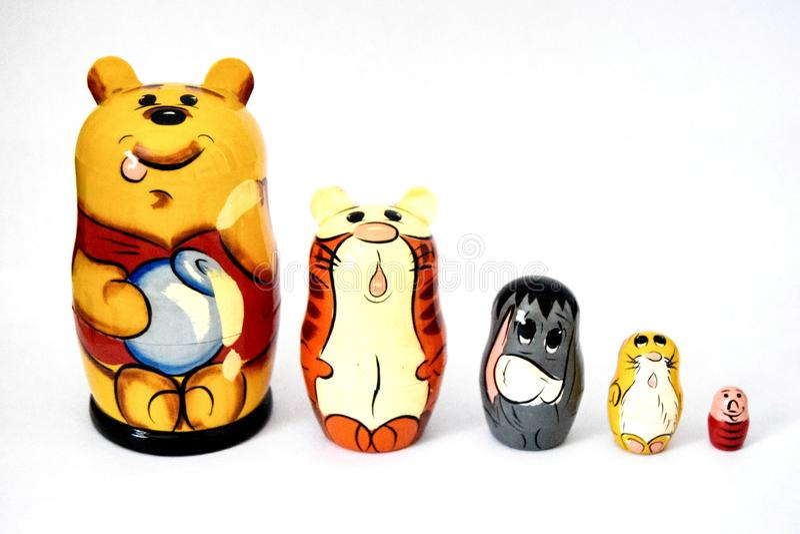 Matryoshka Russische poppen royalty-vrije stock afbeeldingen