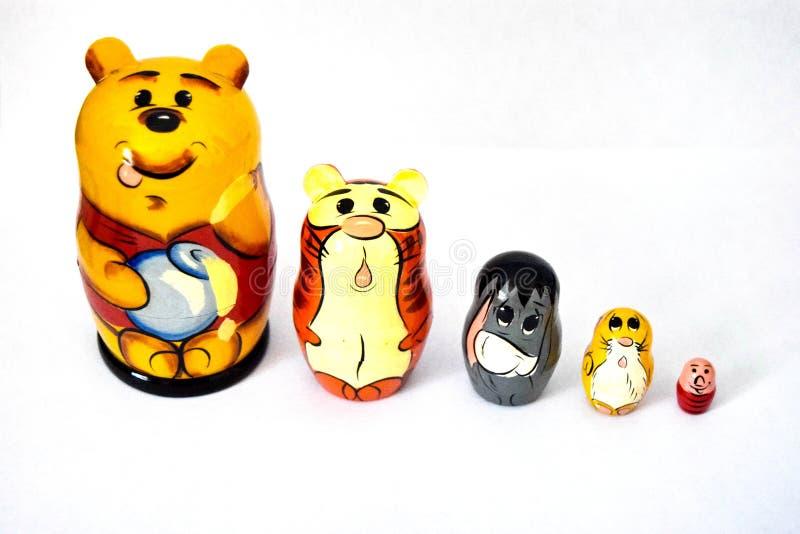 Matryoshka Russische poppen stock foto