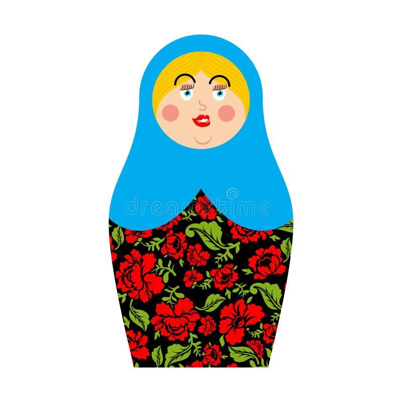 Matryoshka rysk folk docka Nationell toy toys traditionellt royaltyfri illustrationer
