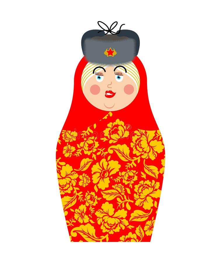 Matryoshka rysk folk docka Nationell toy traditionella leksaker in vektor illustrationer