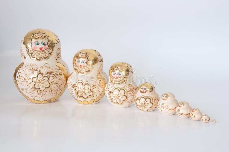 Matryoshka, uma boneca de madeira do russo fotos de stock royalty free