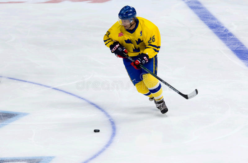 Mats Naslund (26) in action stock images