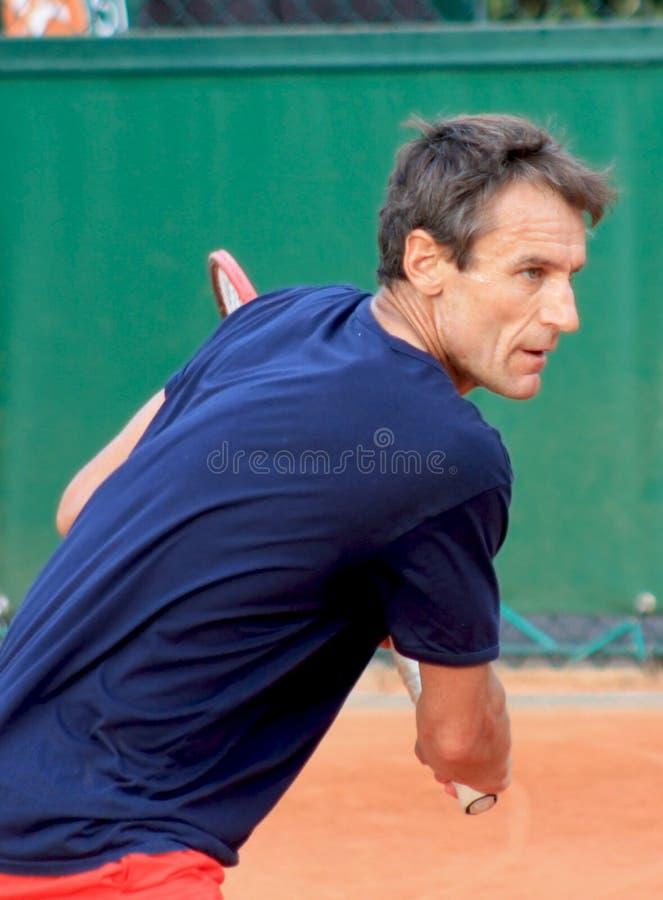 Mats Wilander em Roland Garros em 2011 fotografia de stock