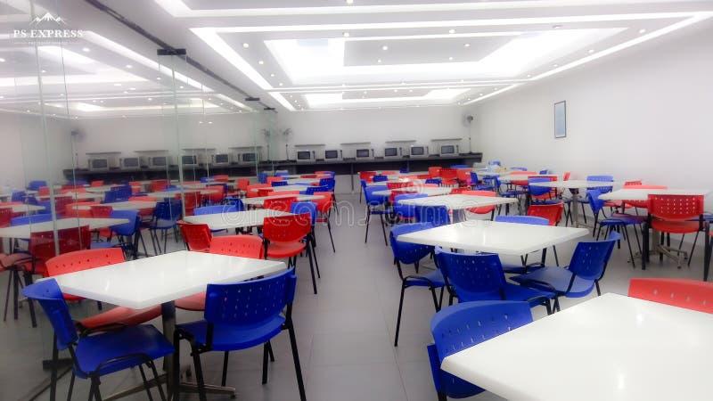 matsal för industriell typ för anställda arkivfoton