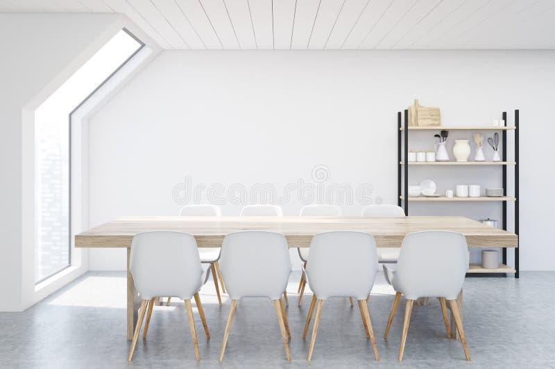 Matsalloft, vit stock illustrationer
