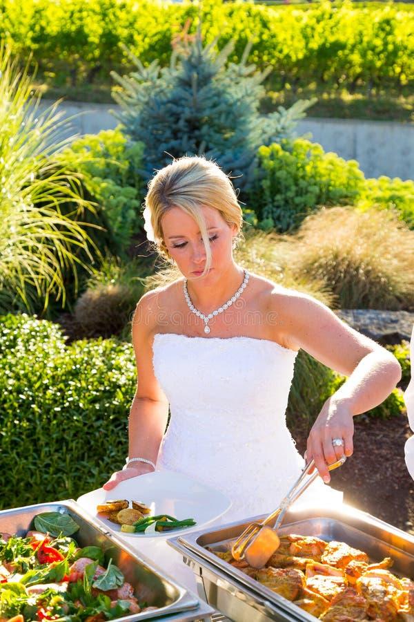 Matställe för bröllopmottagande royaltyfri foto