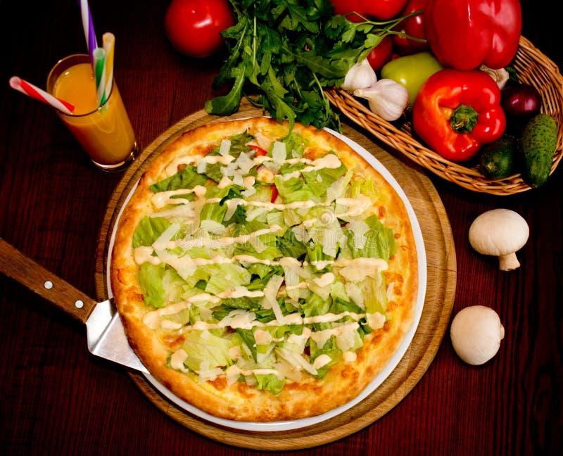 Matställe i pizzeria arkivfoto