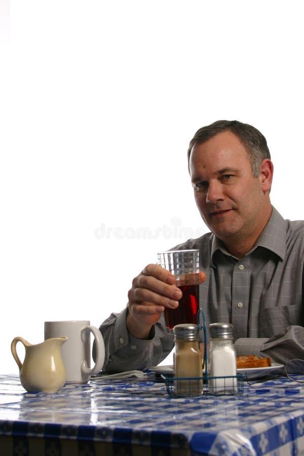 matställe som har lunchmannen royaltyfria foton