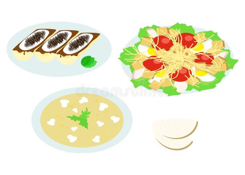 Matställelägenhetdesign royaltyfri illustrationer