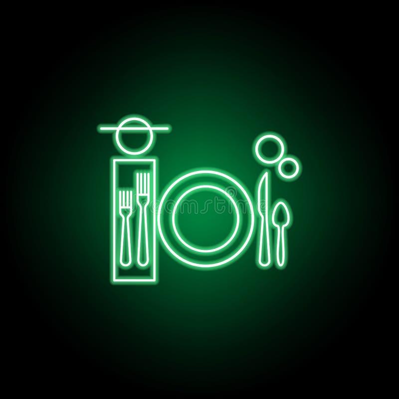 Matst?lle tabelletikettsymbol Kan anv?ndas f?r reng?ringsduken, logoen, den mobila appen, UI, UX vektor illustrationer