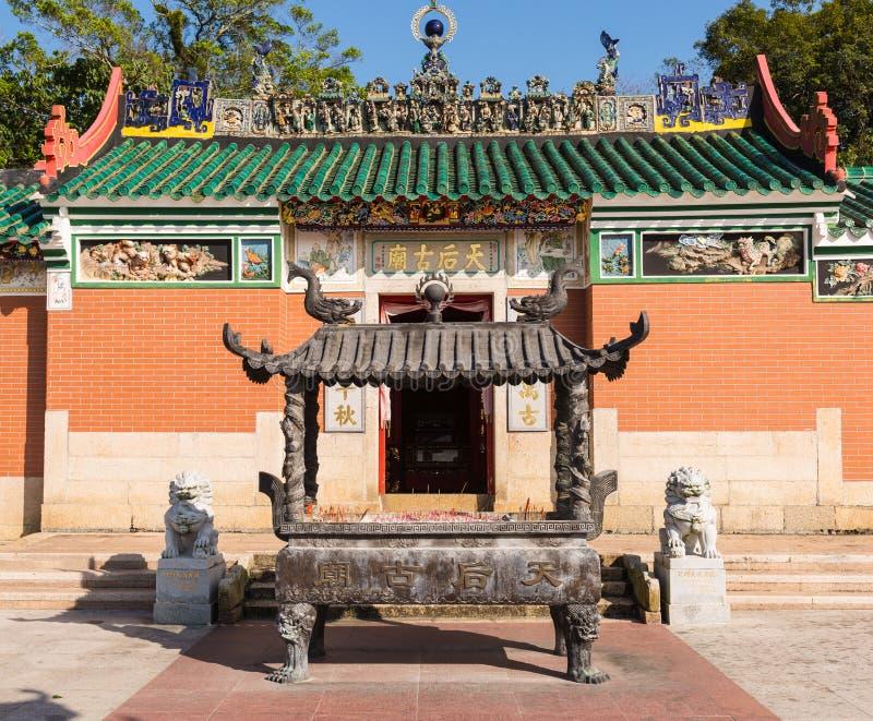 Matsu Temple grande, igualmente conhecida como o Datianhou ou a grande rainha do templo do céu imagem de stock royalty free