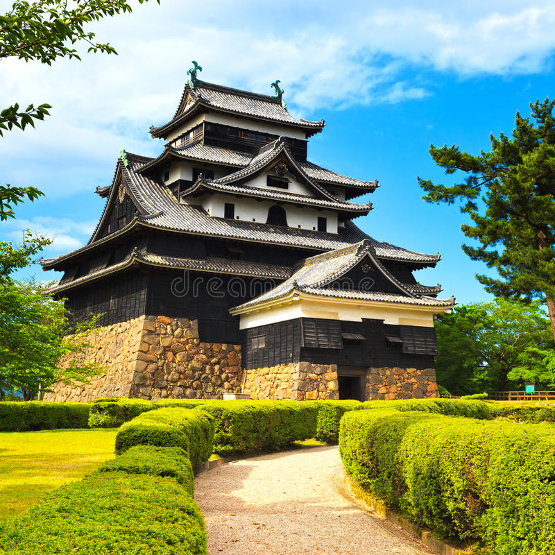 Matsue samurai feudal castle and garden. Japan, Asia. Matsue samurai feudal castle and garden. Known as black castle. Shimane prefecture, Japan, Asia stock image
