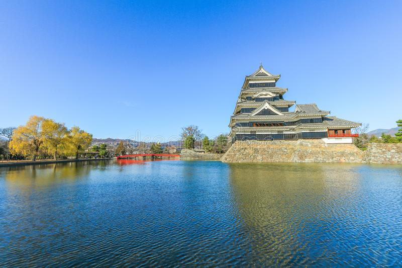 Matsumoto castle against on blue sky background in winter ,One royalty free stock photos