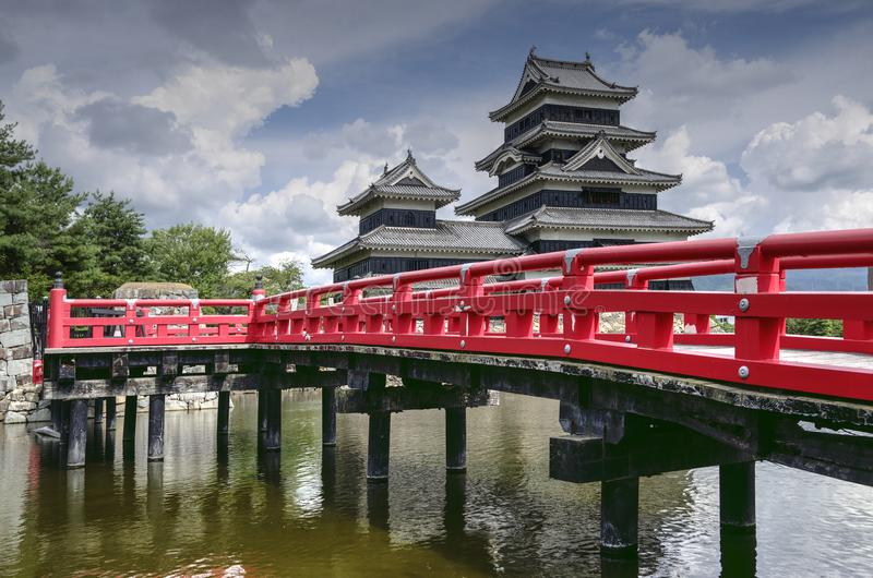 Matsumoto Castle, Japan. Matsumoto castl in Matsumoto city in apan is one of the best Japanese castle which survive from history and now it is listed as a royalty free stock photo
